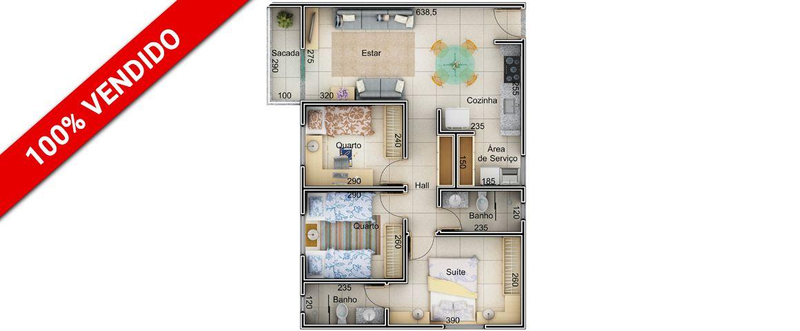Planta - 67,5 m²