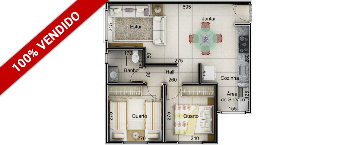 Planta - 47,5 m²